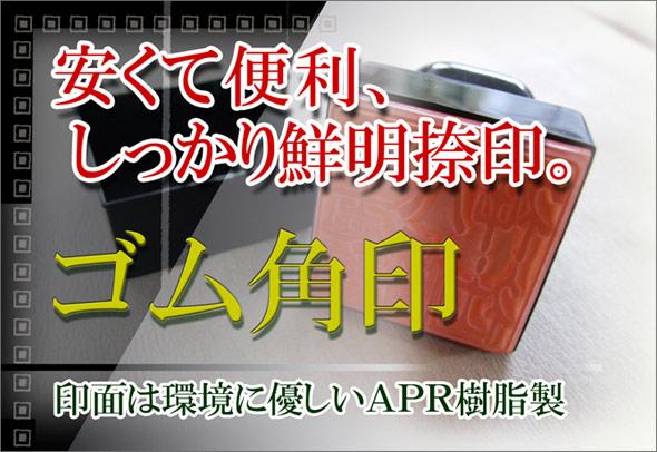 エコのAPR樹脂ゴム製のゴム角印