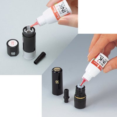 画像2: 【クイックスタンプ補充インク★6色】 顔料系・染料系インクボトル
