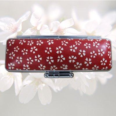 画像3: 実印 楓 女性用和実印13.5mm丸 赤ローケツ染単品セット(D-8)
