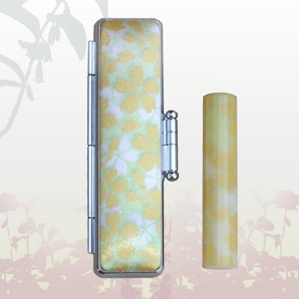 画像1: 和ざいく-桜はんこ(さくら)12mm丸  (1)