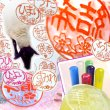 画像1: パールグラスのかわいい花はんこ★12mm丸【全12花柄★6カラー】 (1)