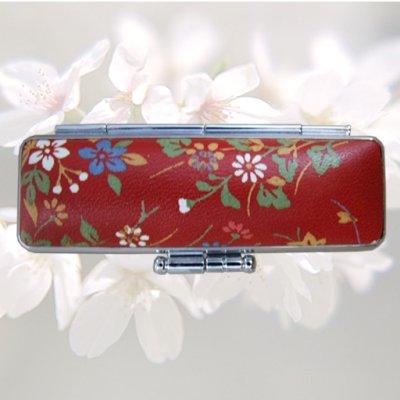 画像3: 実印 楓 女性用和実印13.5mm丸 赤ローケツ染単品セット(D-4)