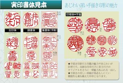 画像2: チタン実印用印鑑 16.5mm丸【高級トカゲ皮ケース付】